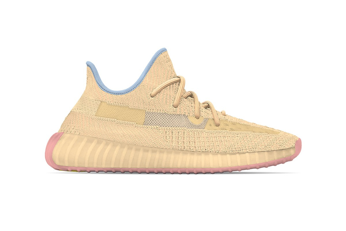 """The adidas YEEZY BOOST 350 V2 Is Rumored to Release in """"Flax"""" & """"Linen"""""""